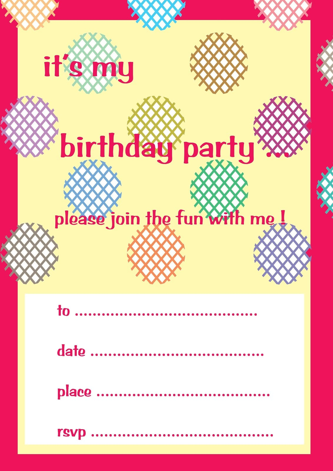Pictures Of Invitation Cards For Birthday