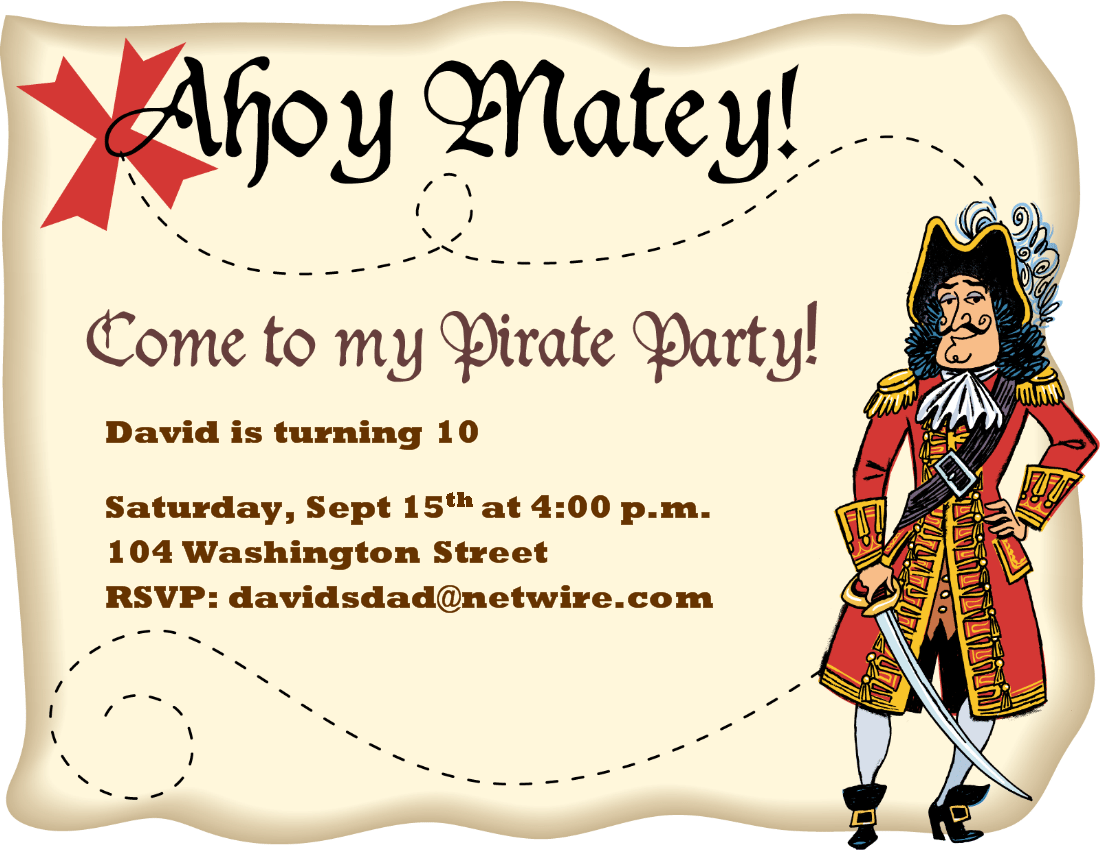 Pirate Invitation Template