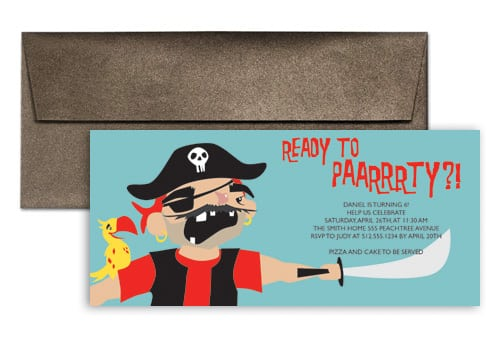Party Kid Invitation – Kids Pirate Party Invitations