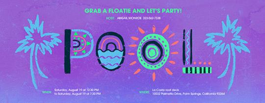 Pool Party Invitations Free Online