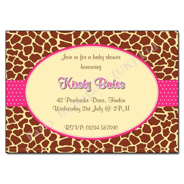 Print Baby Shower Photo Invitation