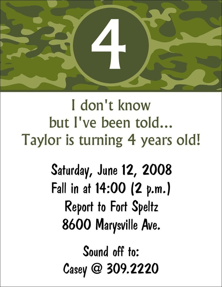 Printable 7th Boys Birthday Invitation