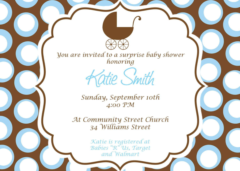 Printable Baby Shower Invitations Boy