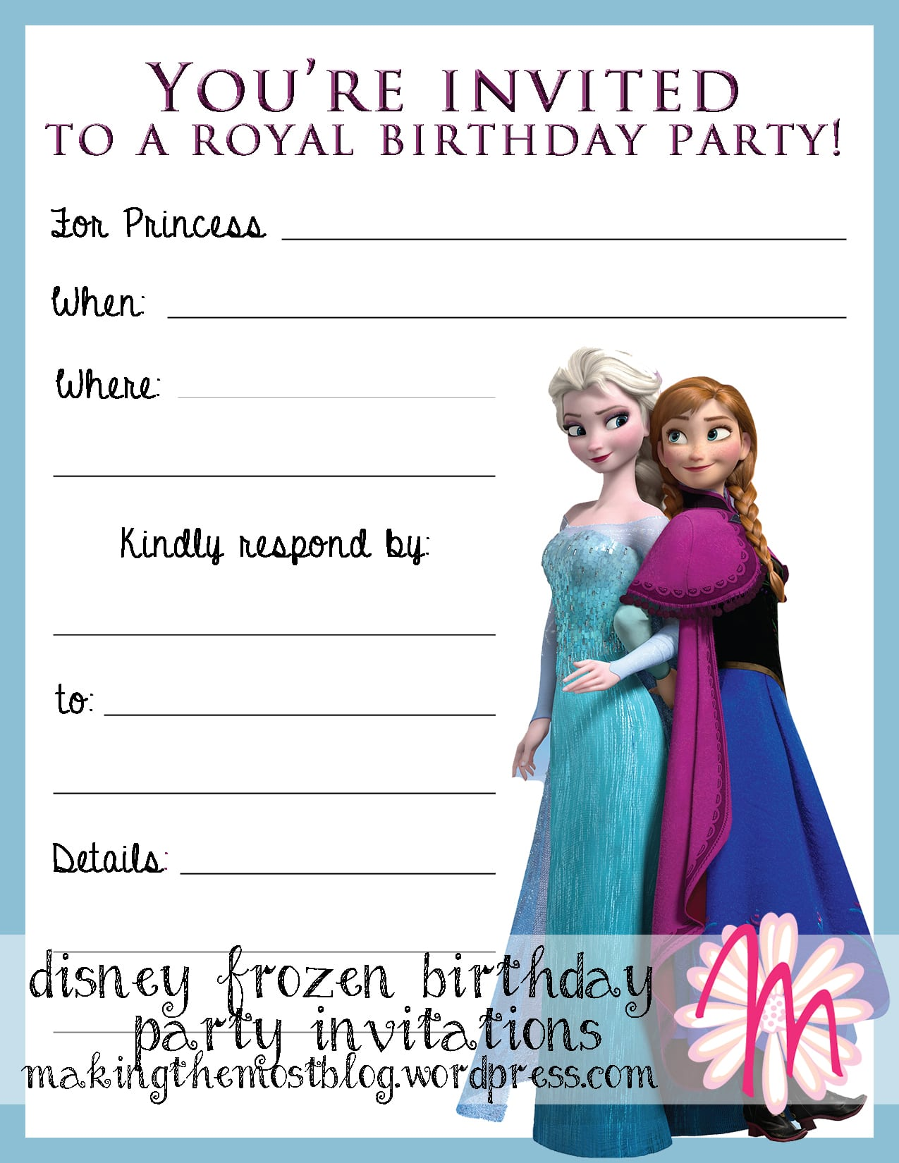 Printable Bday Party Invitations