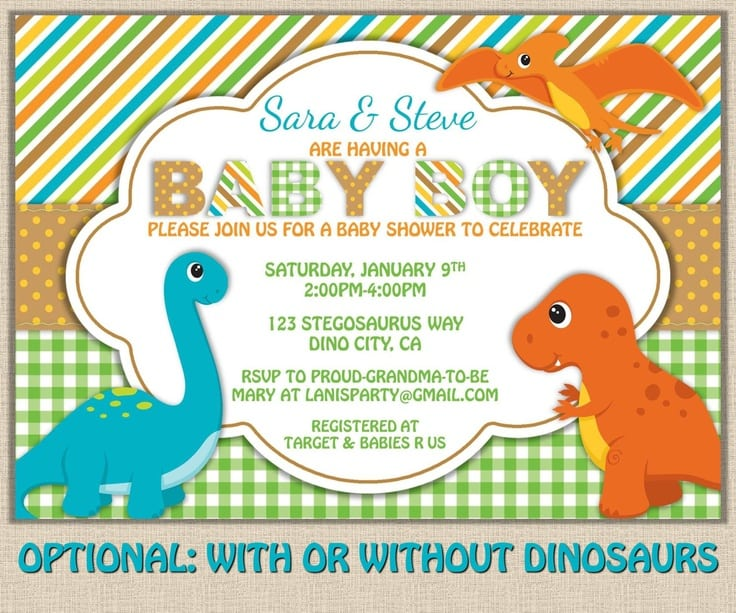dinosaur baby shower invitations file name printable dinosaur baby