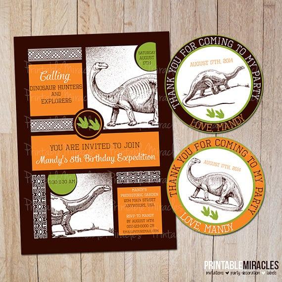 Printable Dinosaur Invitation