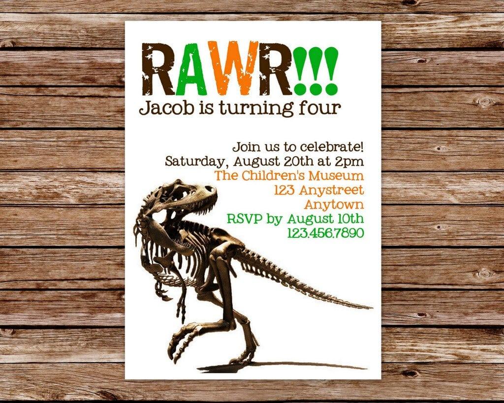 Printable Dinosaur Invitations Free