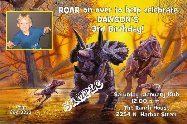 Printable Dinosaur Party Invitations