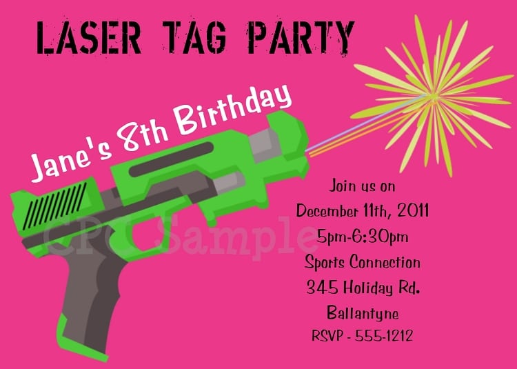 Printable laser tag party invitation filmwisefo