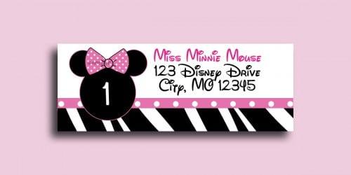 Printable Minnie Mouse Invitation Cards