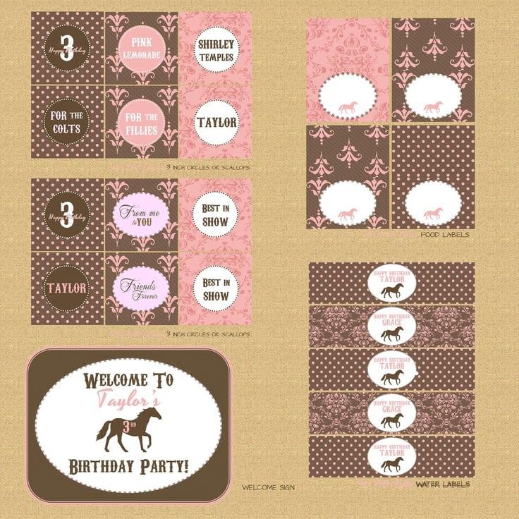 Printable Pony Party Invitations