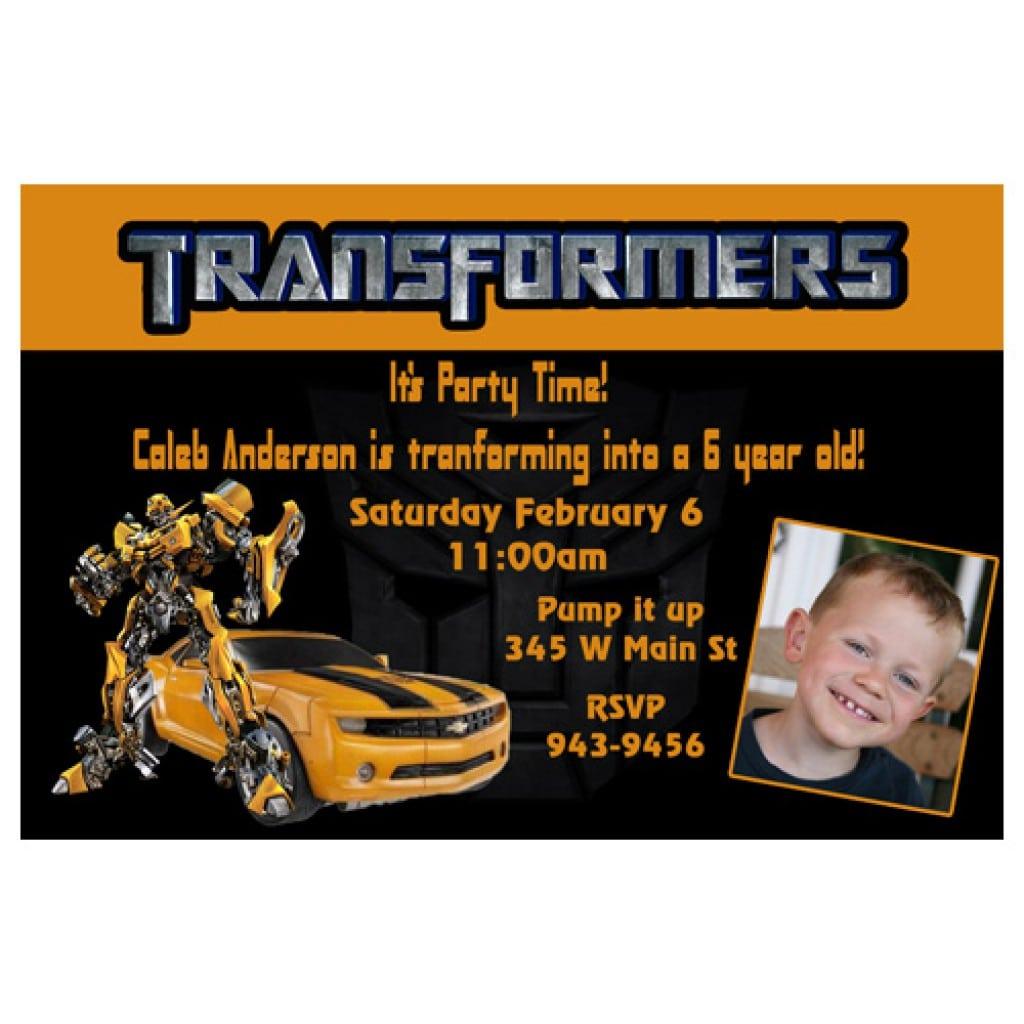 Printable Transformers Invitation