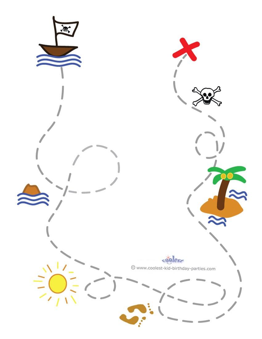 Free Printable Treasure Map Invitation