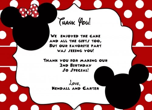 Printables Mickey Mouse Invitation Card