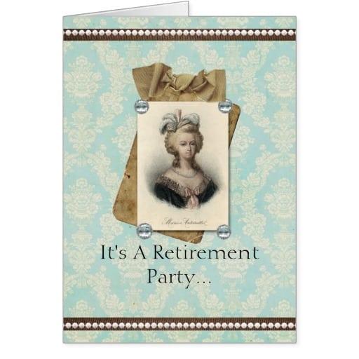 Retirement Invitation Greeting Cards