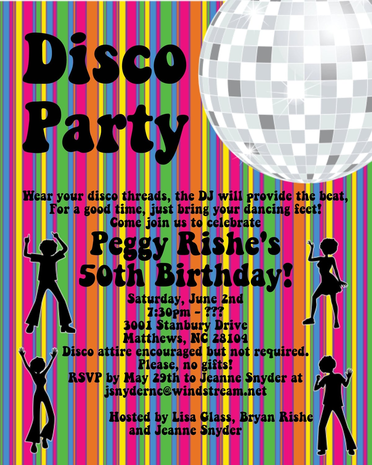 party invitation template file name roller disco party invitation ...