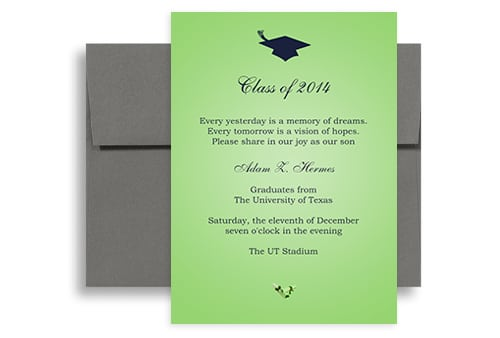 Sample Of Invitation Graduation Card