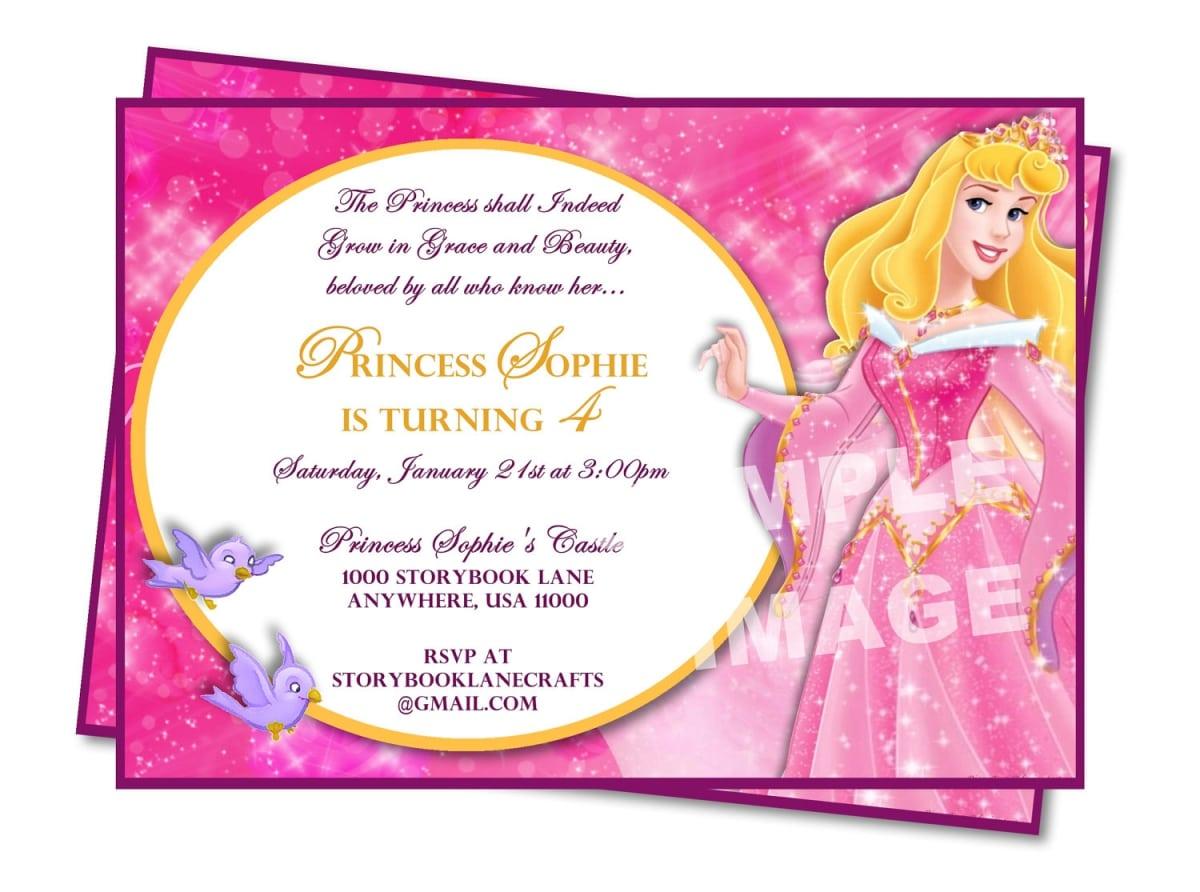 Sample Princess Party Invitations