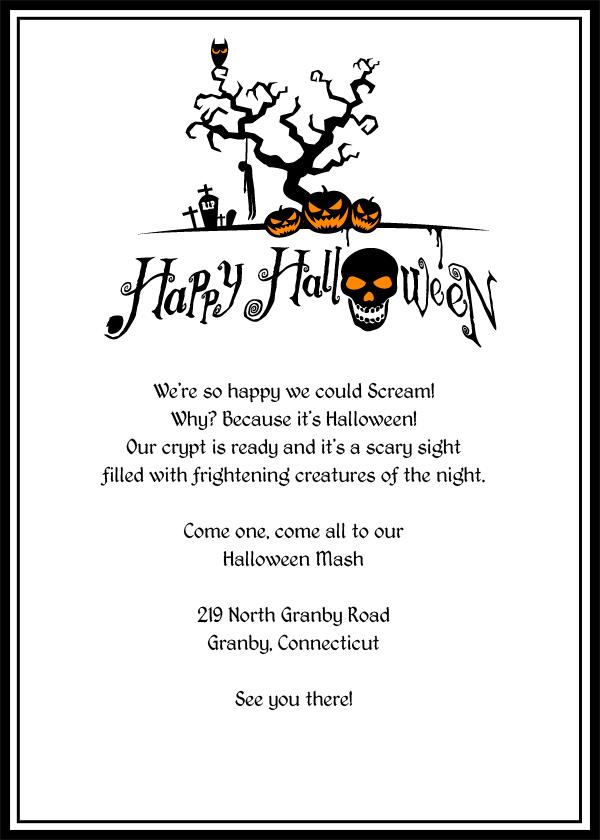 Scary Halloween Invitation Templates Free
