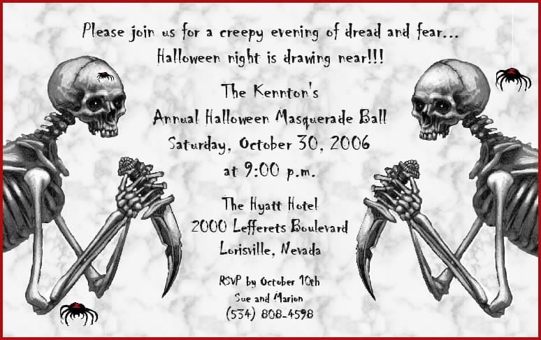 Scary Halloween Party Invitation Template