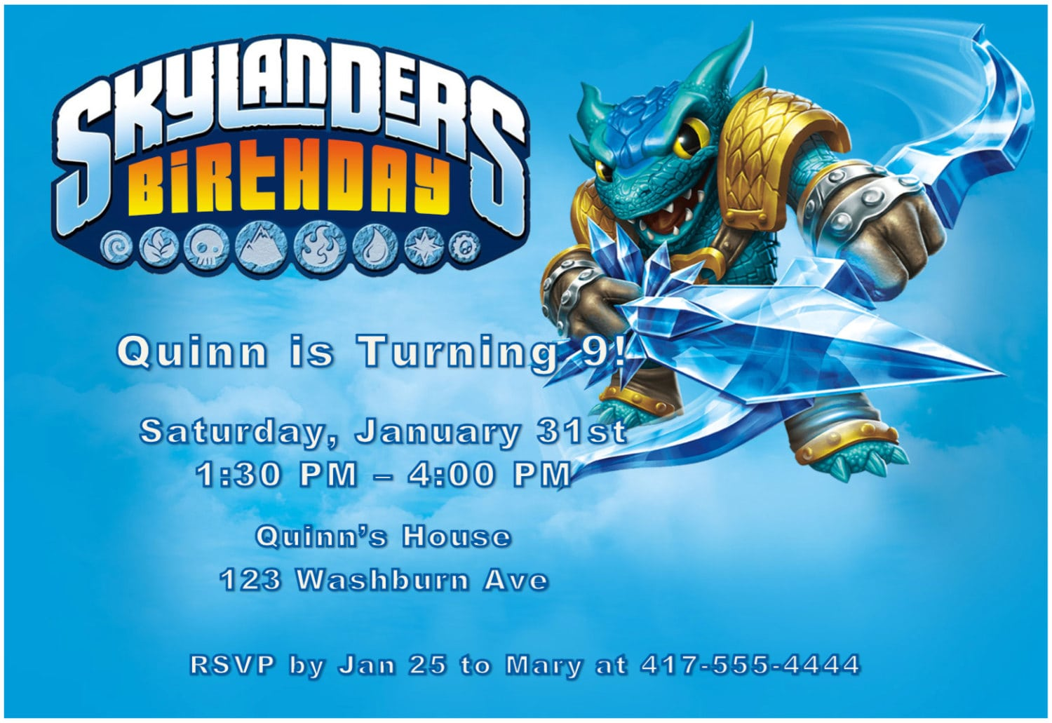 Skylander Invitations is adorable invitations layout