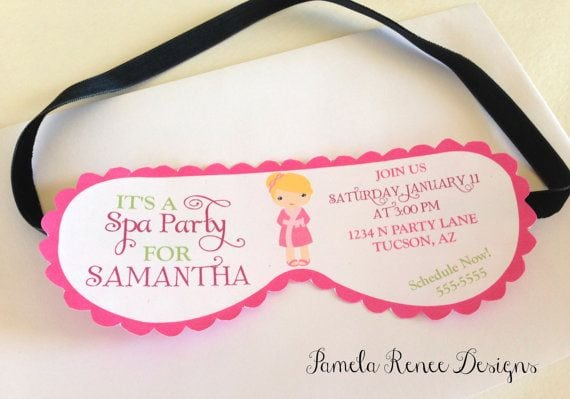 spa party printables