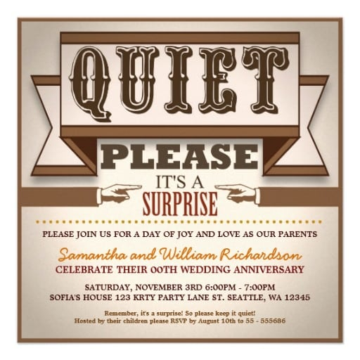 Anniversary Party Invitation Template - Anniversary party invitation template