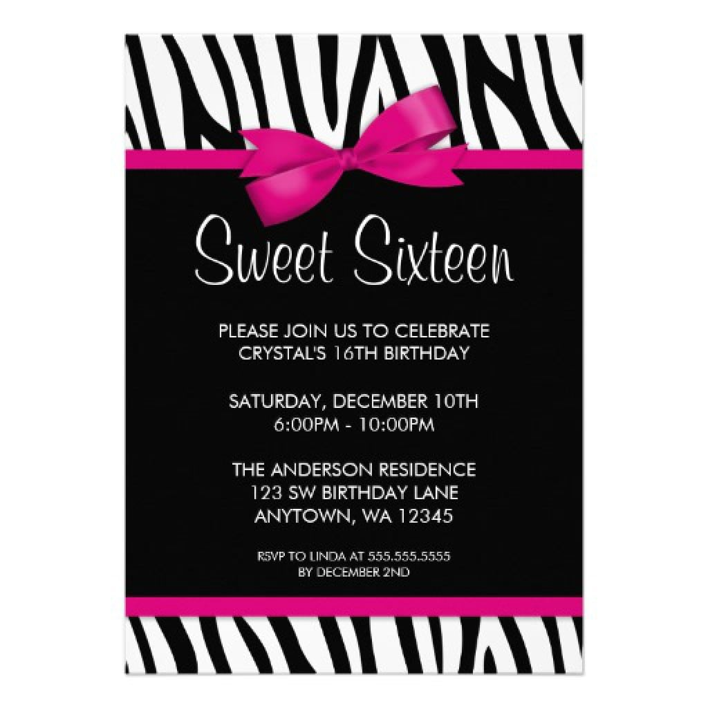 sweet sixteen invitations templates - Yeni.mescale.co