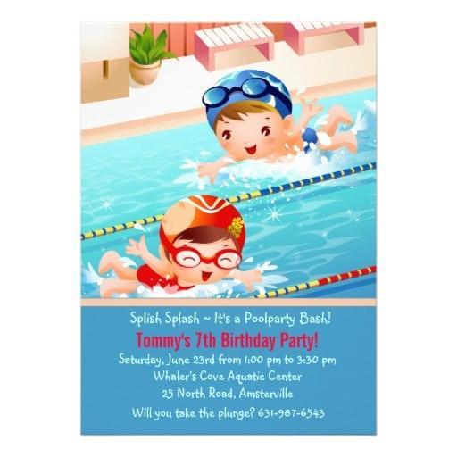 Swim Party Invitation Tempalte