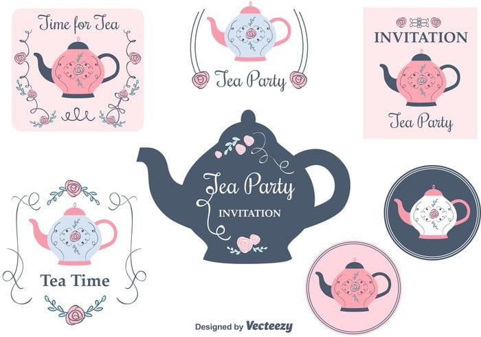 Tea Party Invitation Free Download