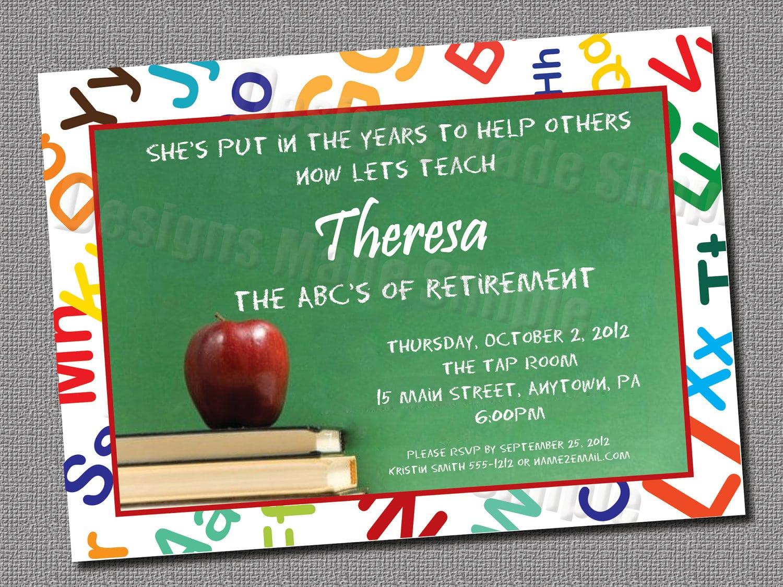 Teacher Retirement Party Invitation Ideas