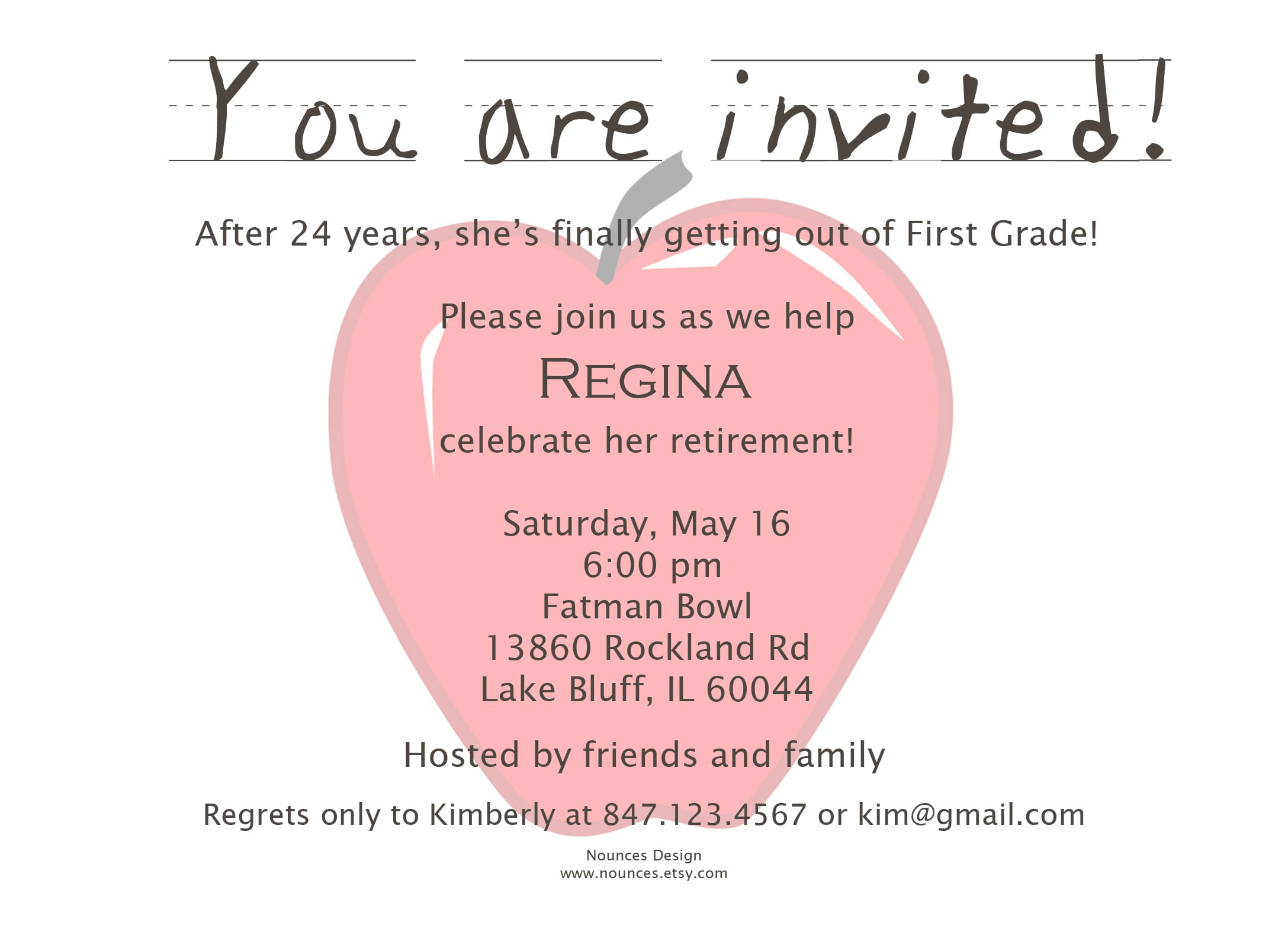 Invitation Wording Ideas For Retirement Party Image collections ...