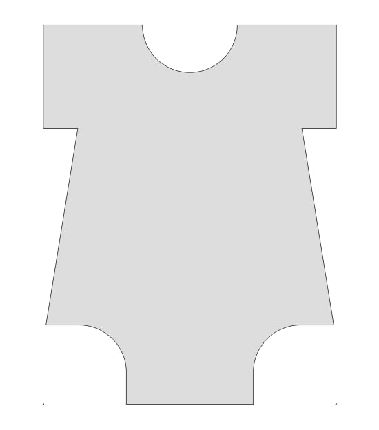Template For Baby Onesie Invitation