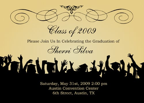 Template Graduation Invitation Card