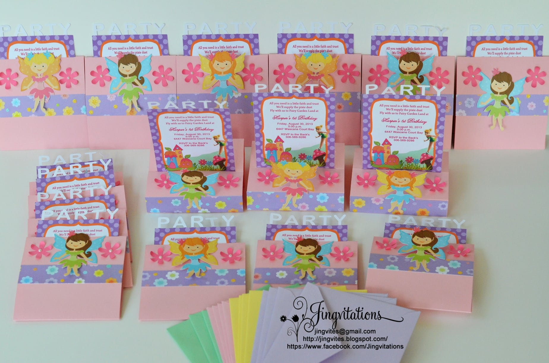 Tinkerbell Fairy Birthday Invitations
