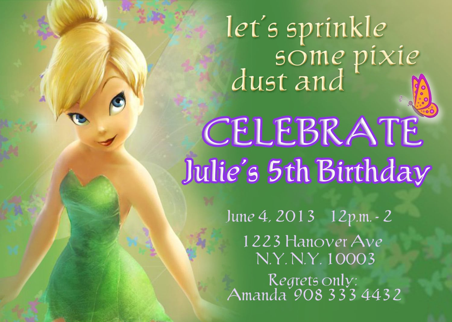 Tinkerbell Fairy Invitations