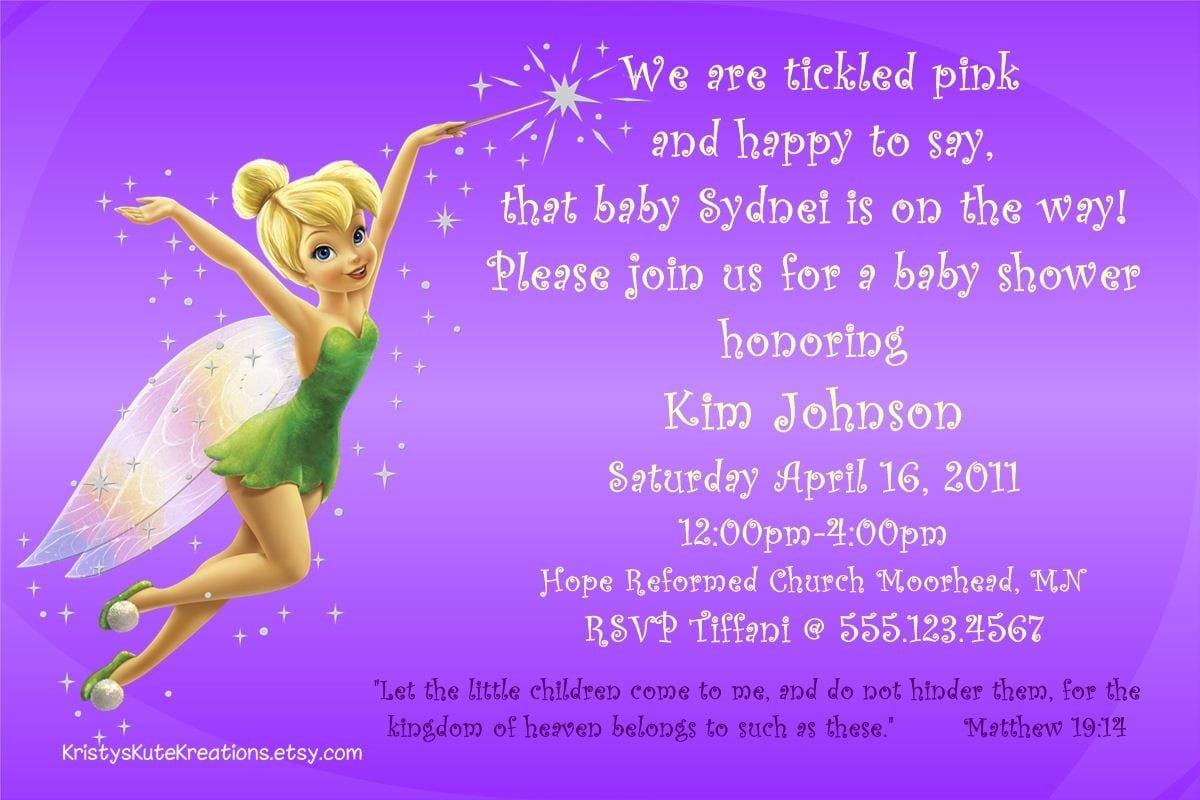Tinkerbell Baby Shower Invitation
