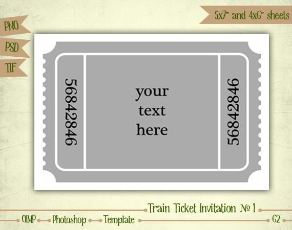 Train Ticket Invitation Template – Invitation Ticket Template