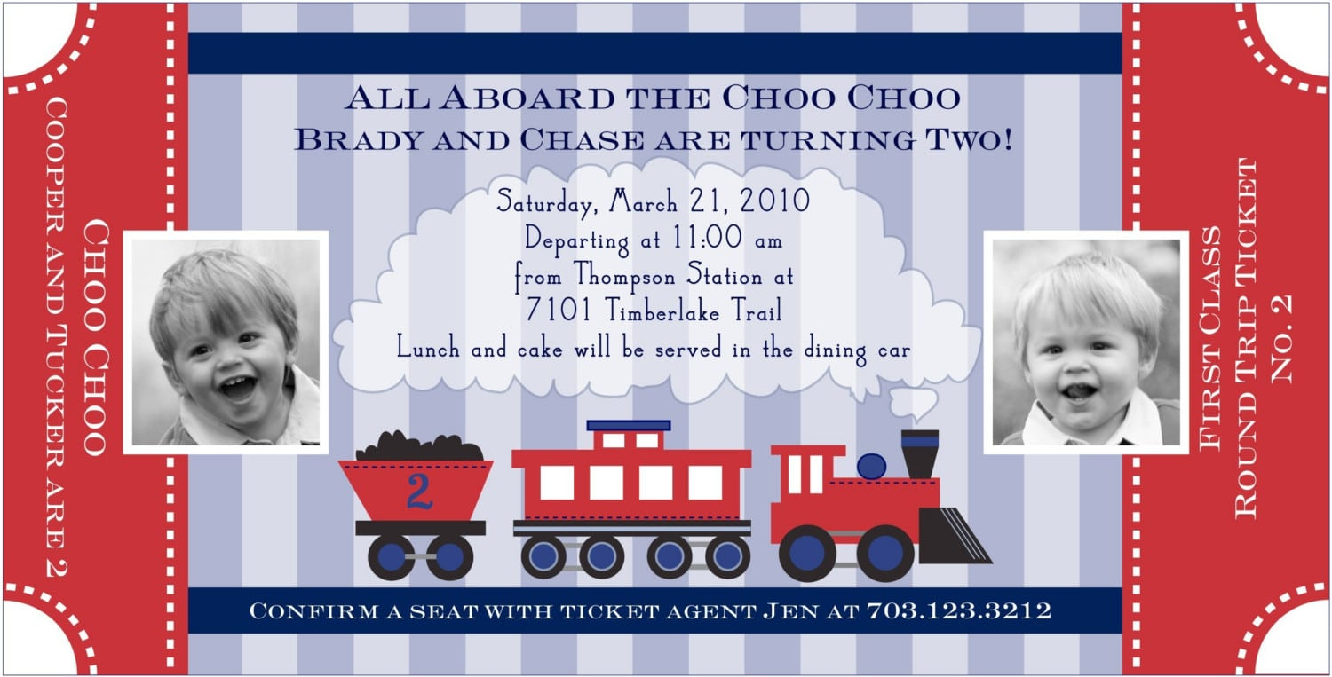 train invitation template