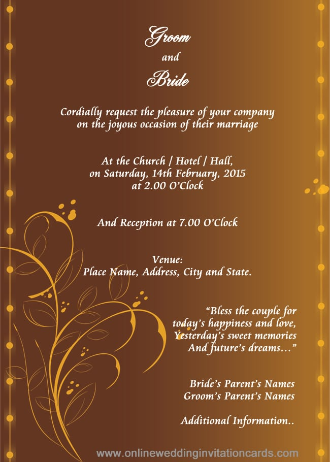 Editable Hindu Wedding Invitation Cards Templates Free Download – Download Invitation Card
