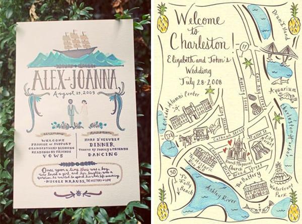 Wedding Invitations With Maps