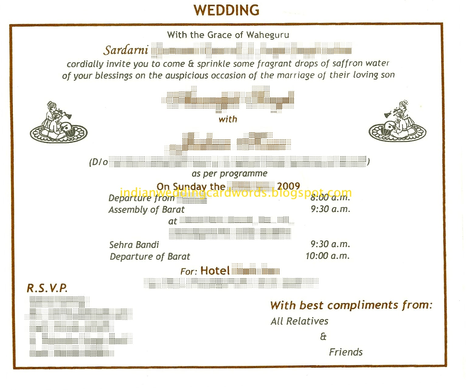 Wedding Reception Invitation Card Format