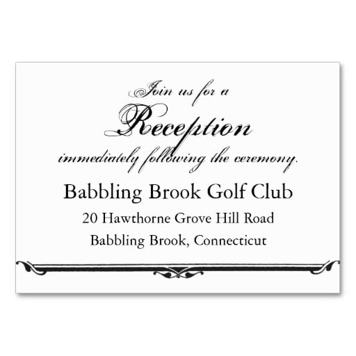 Wedding Reception Invitation Card Template