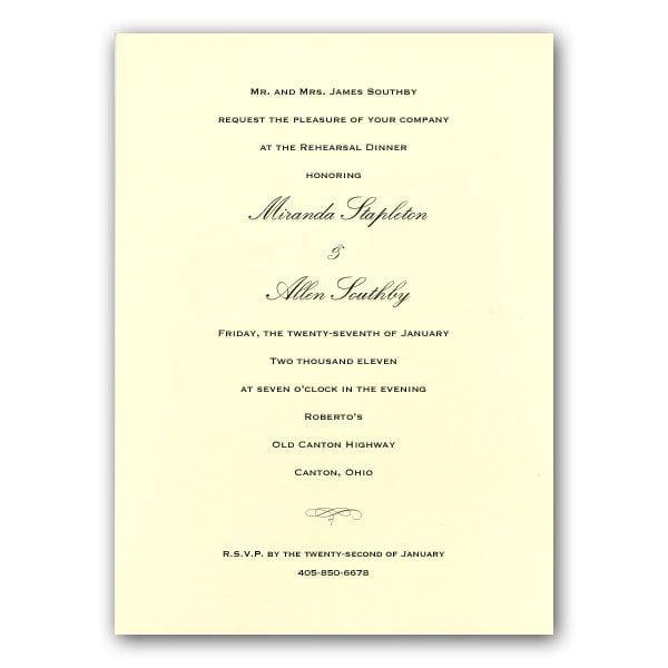 Wedding Invitation Email Wording Samples: Wedding Rehearsal Invitation Wording Samples