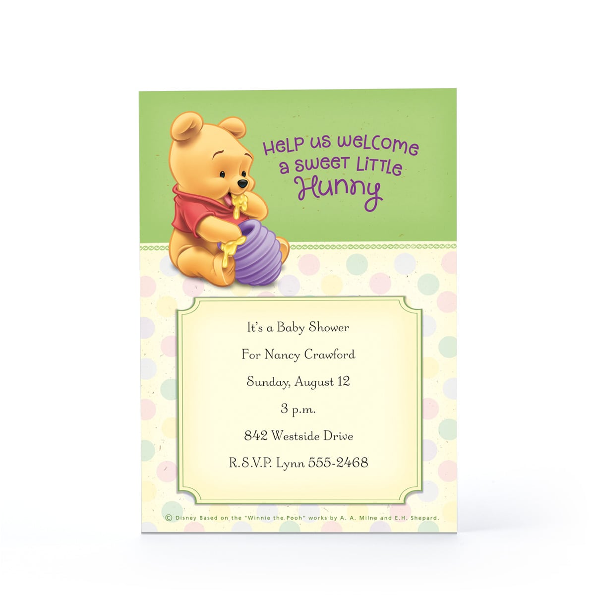 Winnie The Pooh Baby Shower Invitation Templates