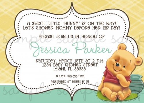 Winnie The Pooh Baby Shower Invitation Wording