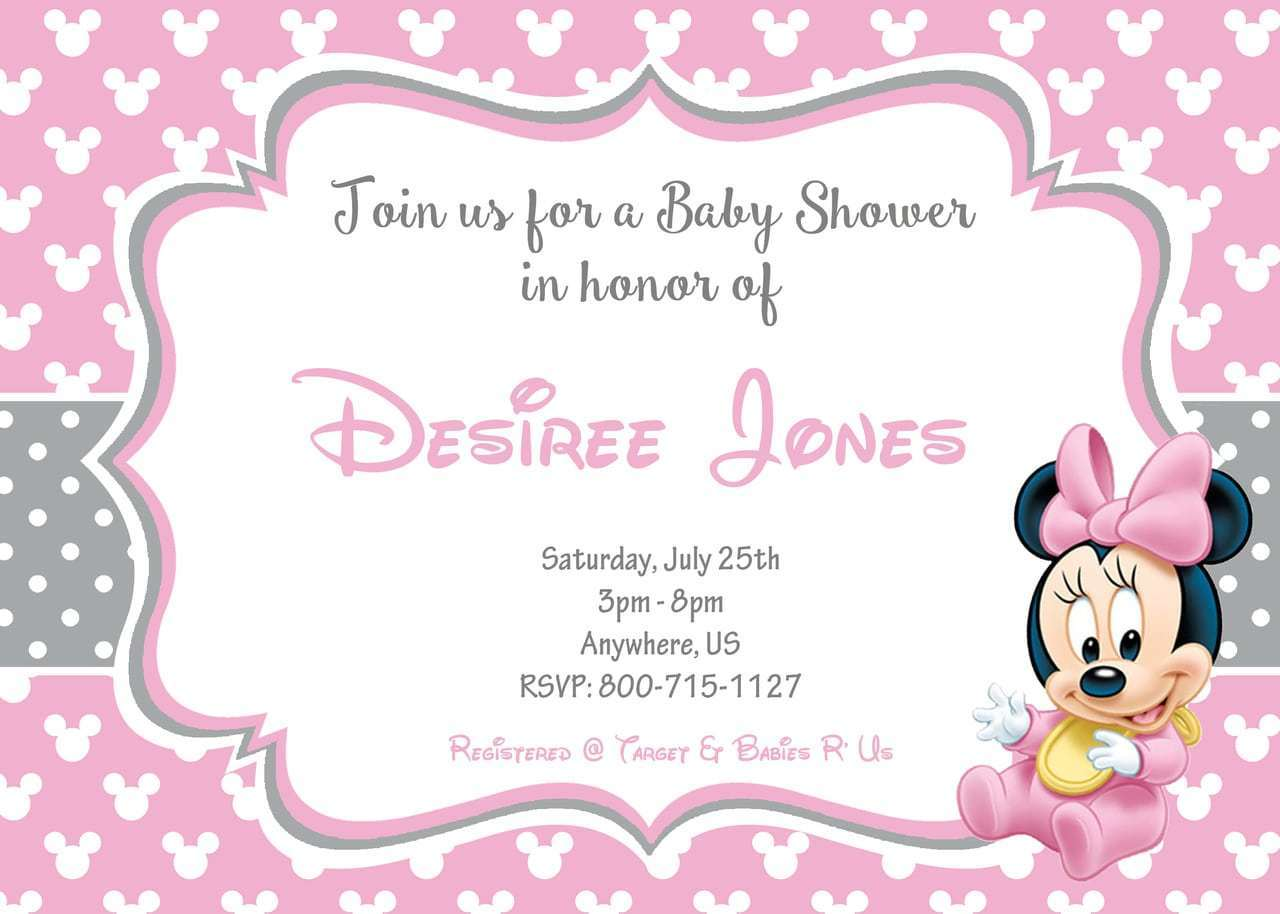 Minnie Mouse Baby Shower Invitations For Your Extraordinary Baby