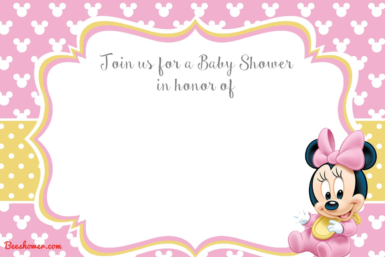Minnie Mouse Invitation Free Template