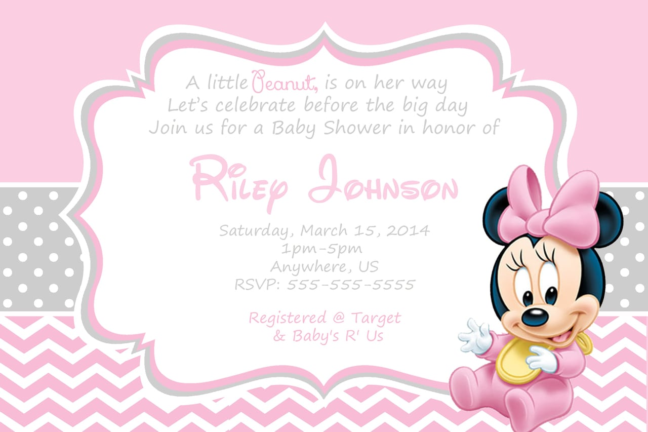 Minnie Mouse Baby Shower Invitations To Bring Your Dream Baby