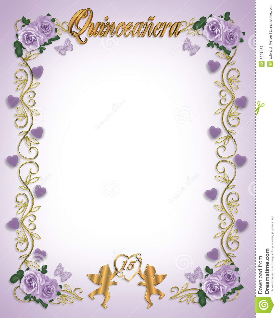 15th Birthday Quinceanera Invitation Stock Illustration